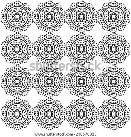 Seamless black circle. Eps 10 - stock vector