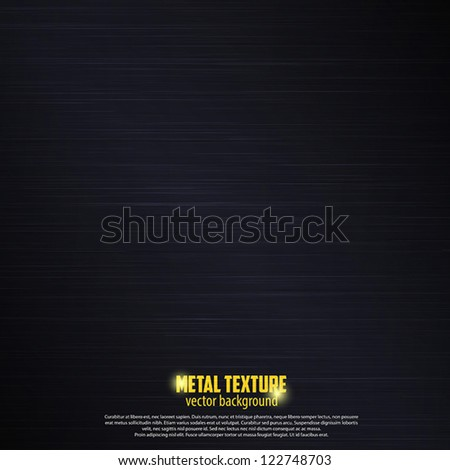 Seamless black metal texture background. Vector - stock vector