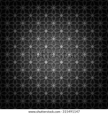 Seamless black pattern - stock vector
