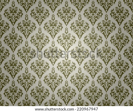 Seamless black pattern with decorative design - stock vector