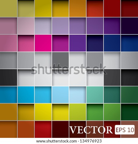seamless blocks colour background, Vector Eps 10 - stock vector