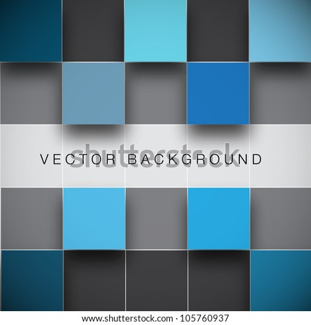 Seamless blocks structure vector background - stock vector