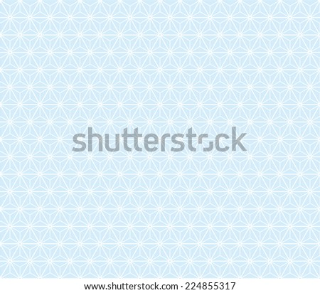 Seamless blue isometric stars pattern vector - stock vector
