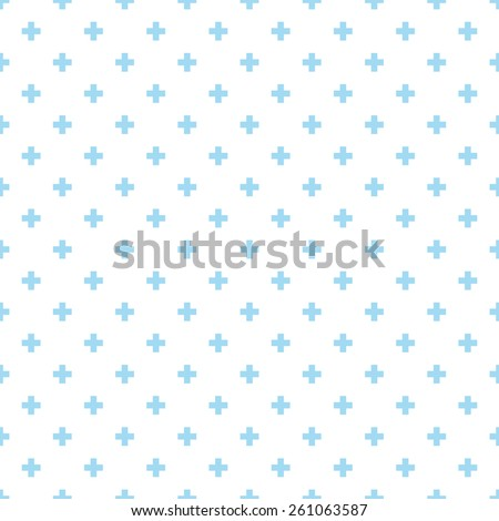 Seamless blue op art plus cross symbol pattern vector - stock vector