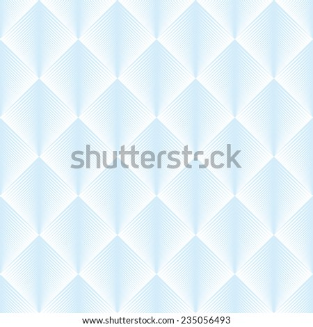 Seamless blue optical illusion feather pattern vector - stock vector