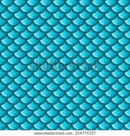 Seamless blue shiny river fish scales. Vector illustration eps 10 - stock vector