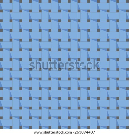 Seamless blue weave pattern. Vector image. - stock vector