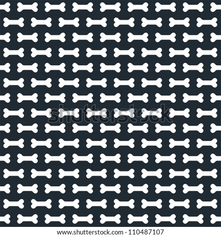 Seamless Bone Pattern - stock vector