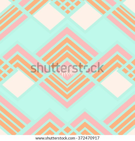 Seamless bono geometrical pattern in vector Creative mosaic fashion wallpaper for design. Background with abstract Hipster Chevron elements  - stock vector