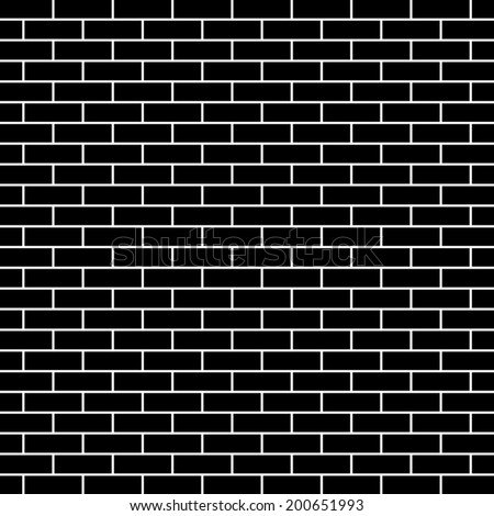 Seamless brick wall background - Vector - stock vector