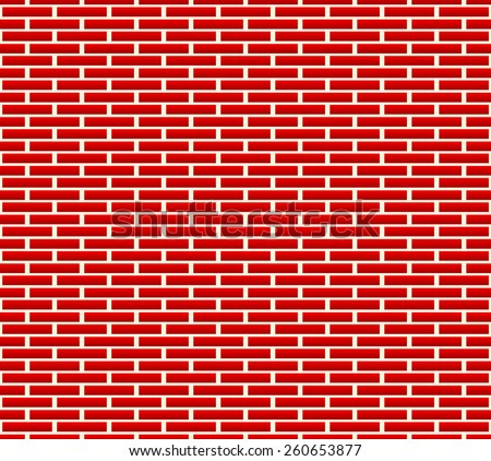 Seamless brick wall pattern with longer bricks - stock vector
