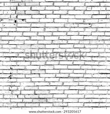 Seamless  brick wall texture. Vector background.  - stock vector