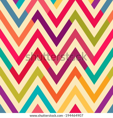 Seamless bright chevron pattern background - stock vector