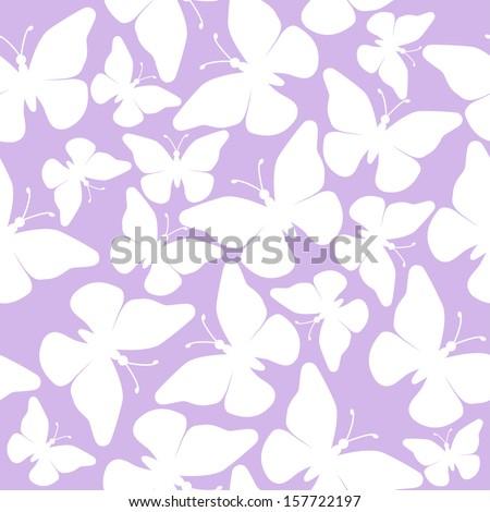 seamless butterflies - illustration, vector - stock vector