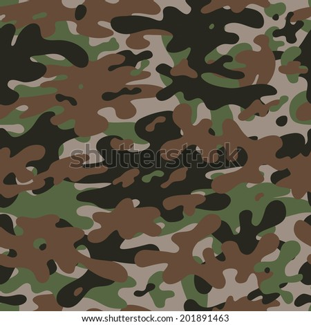Seamless camouflage pattern background. Vector - stock vector