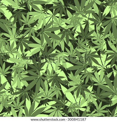 Seamless cannabis leaves pattern. Medical marijuana, legalize culture concept. - stock vector