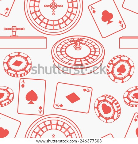 Seamless casino pattern - stock vector