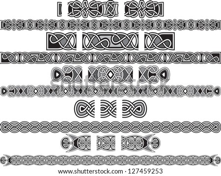Seamless Celtic patterns for design in a vector - stock vector