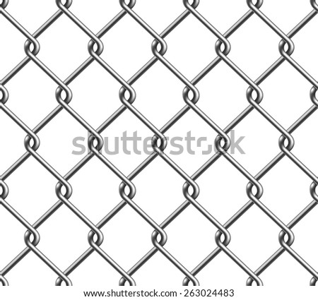Seamless Chain Fence Pattern - stock vector