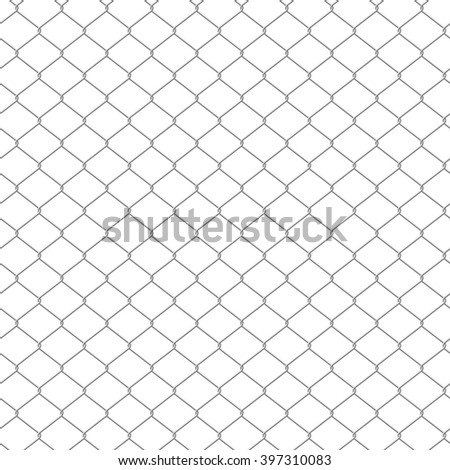 Seamless chain link fence background. - stock vector