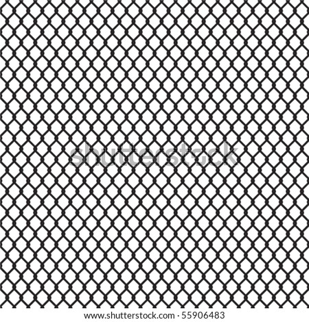 Seamless chainlink fence - stock vector