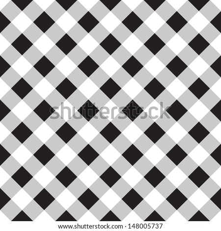 Seamless checkered background - stock vector