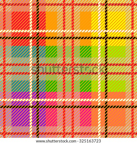 Seamless checkered multicolored vector pattern. Retro textile design collection. Black and white stripes. Backgrounds & textures shop. - stock vector