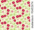 Seamless cherry background. - stock vector