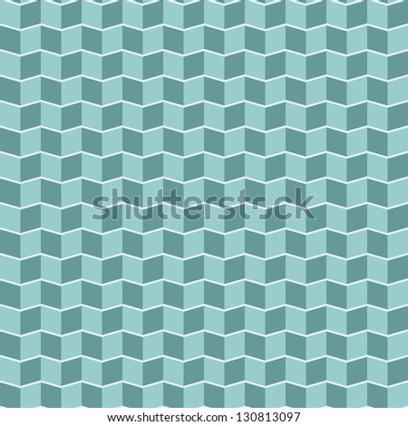 Seamless chevron pattern in retro style. Can be used to fabric design, wallpaper, decorative paper, scrapbook albums, web design, etc. Swatches of seamless pattern included in the file. - stock vector