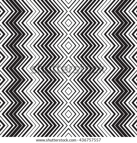 Seamless chevron pattern. Seamless zigzag bitmap. Digital print for wallpaper, wrapping paper, fabric, textile, scrap booking, apparel, web design. Boho style. Vector seamless black and white image.  - stock vector