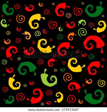 Seamless Chili Pepper wallpaper. Vector Illustration - stock vector