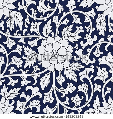 Seamless chinese pattern - stock vector