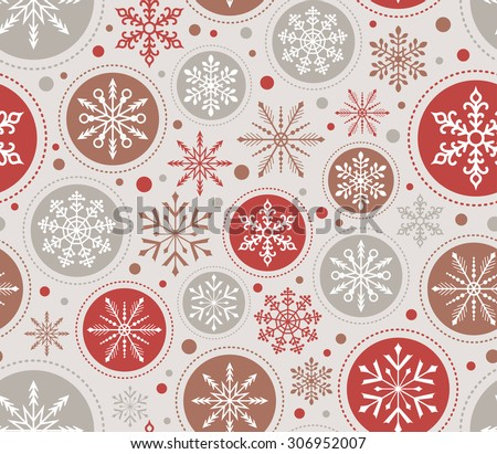 seamless christmas ornament pattern - stock vector