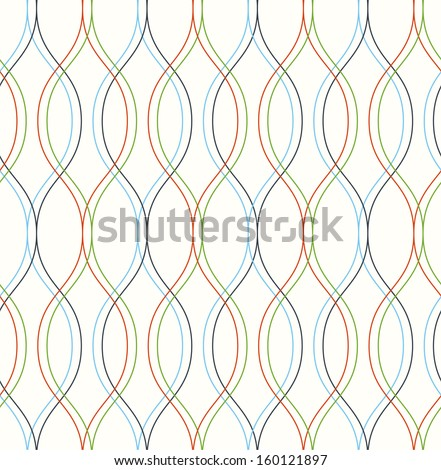 Seamless christmas vector abstract wave pattern background - stock vector