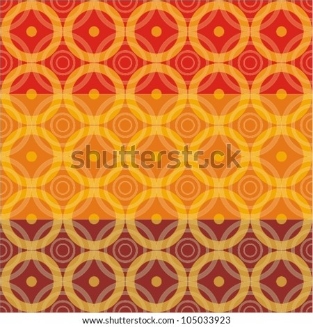 Seamless circle background - stock vector