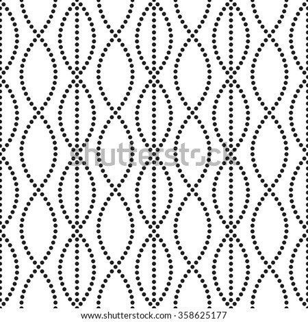 Seamless circle pattern. Abstract Black and white Background. Chain linear backdrop. Ethnic Pattern. Dotted background. Textile background. Geometric Pattern. Zigzag pattern. Vector Regular Texture - stock vector