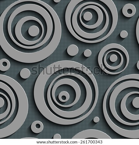 Seamless Circle Pattern. Vector Abstract Background - stock vector