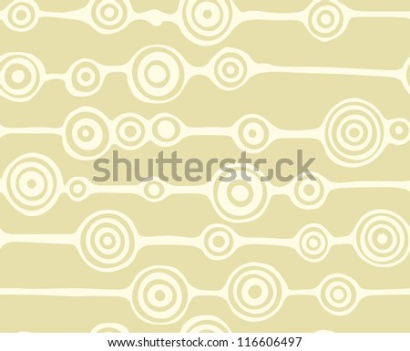 Seamless circles background - stock vector