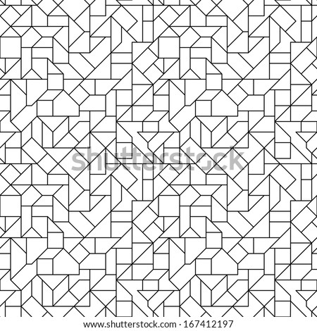 Seamless Circuit Background - stock vector