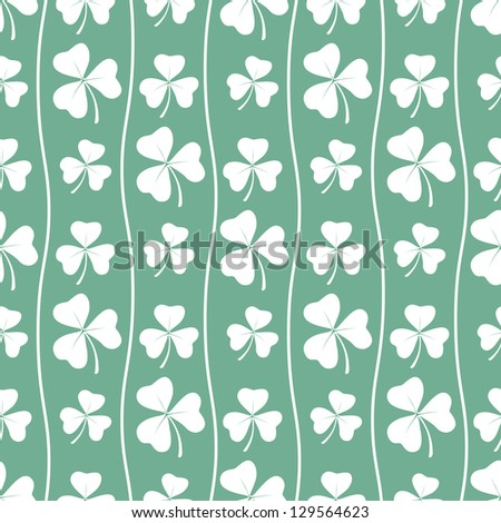 Seamless clover pattern. Vector background for St. Patrick's Day - stock vector
