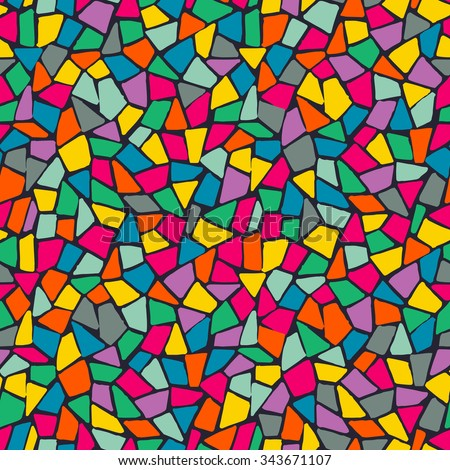 Seamless color mosaic pattern - stock vector
