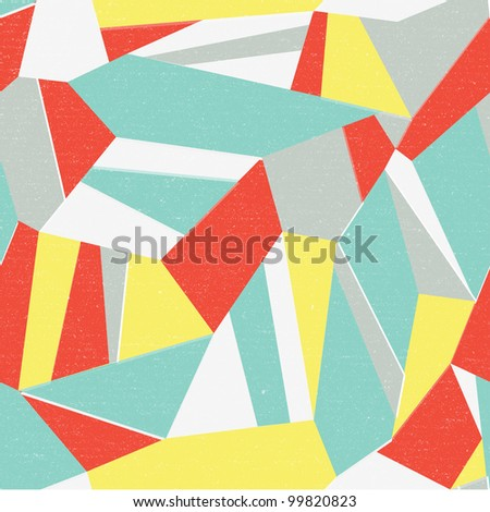 Seamless colorful abstract retro background - stock vector