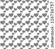 Seamless colorful animal skin texture of zebra heart - stock vector