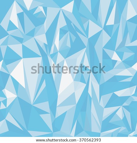 Seamless colorful polygonal pattern soft light ice.Low poly background.Polygonal art.Wallpapers of triangles. - stock vector