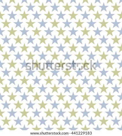 Seamless Colourful Star Pattern. Ideal for gift wrapping paper. - stock vector