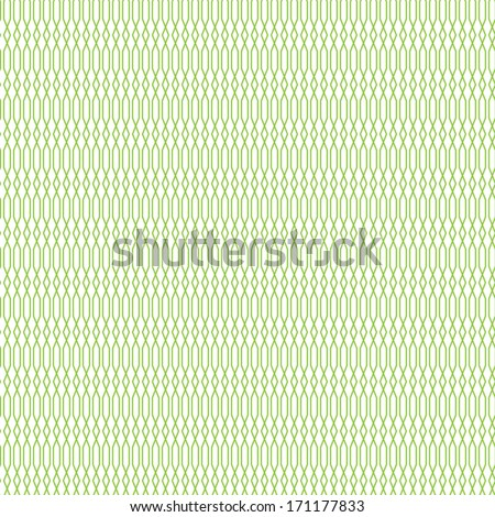 Seamless cross pattern in green color.  For banknote, money design, currency, note, check (cheque), ticket, reward. Vector . Watermark security. - stock vector