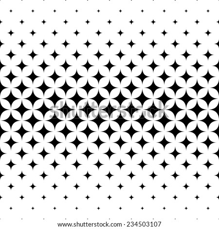 Seamless curved star pattern design vector - stock vector