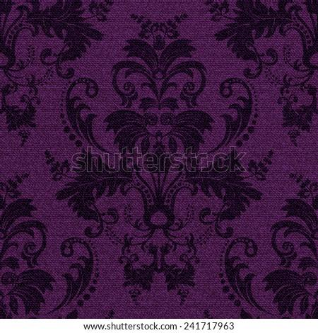 Seamless damask pattern - stock vector