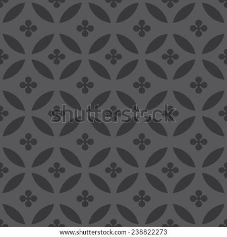 Seamless dark gray overlapping fashion pattern vector - stock vector
