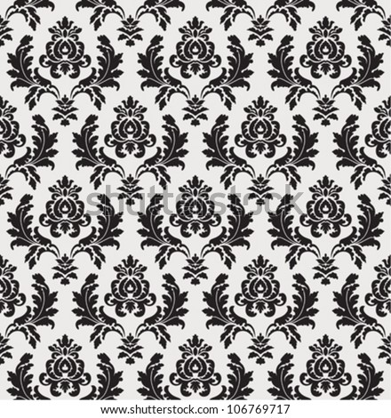 Seamless decorative ornamental wallpaper - stock vector